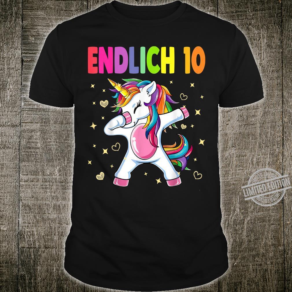 10. Geburtstag Mädchen 2010 10 Jahre Einhorn Party Geschenk Shirt