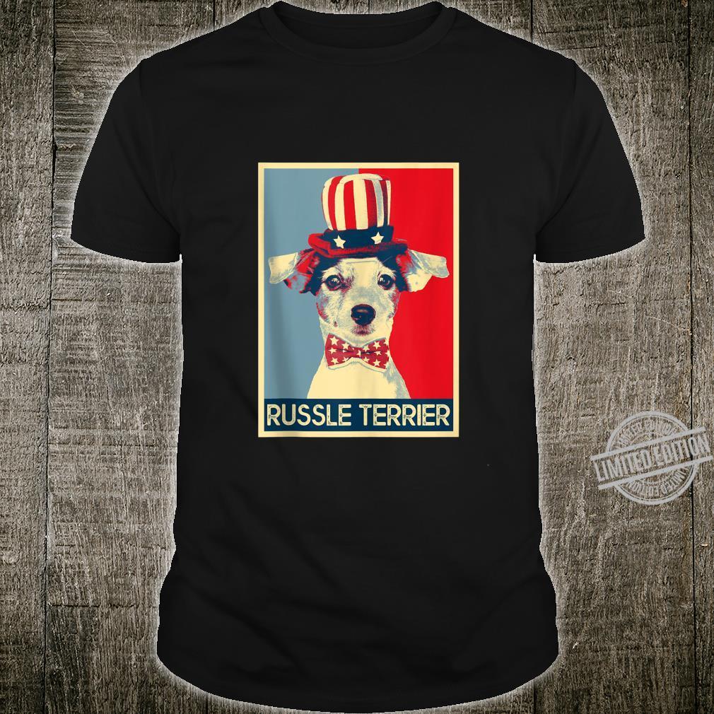 Jack Russel Terrier Retro Style PopArt Dog Shirt