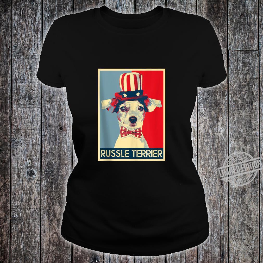 Jack Russel Terrier Retro Style PopArt Dog Shirt ladies tee