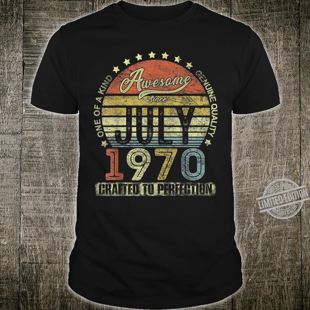 Jahrgang Juli 1970 Design ist 50 Jahre alt 50. Geburtstag Shirt