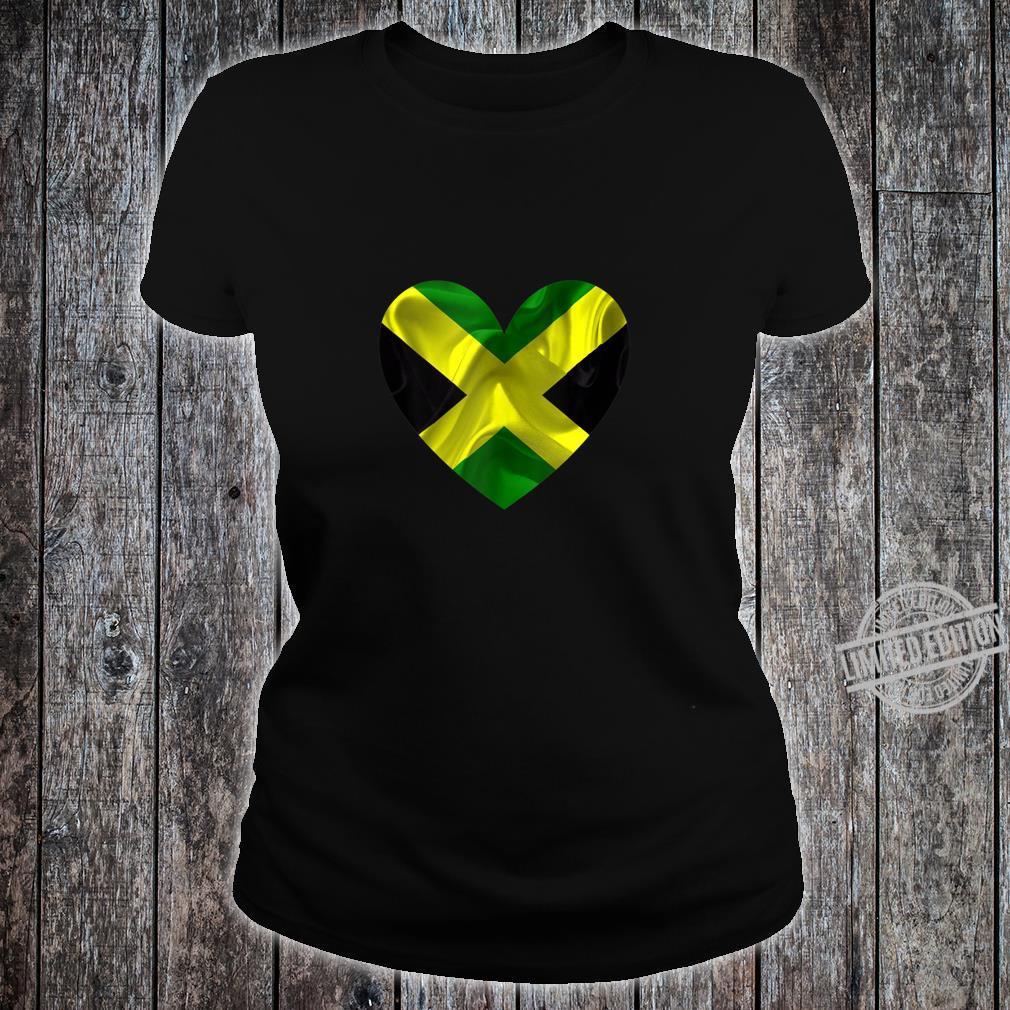 Jamaica Valentines Day Flag Shirt ladies tee