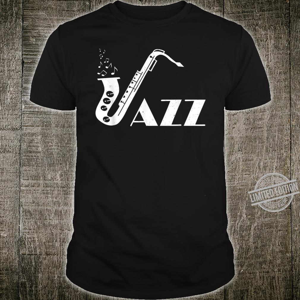 Jazz Musik Retro Saxophon Geschenk Shirt